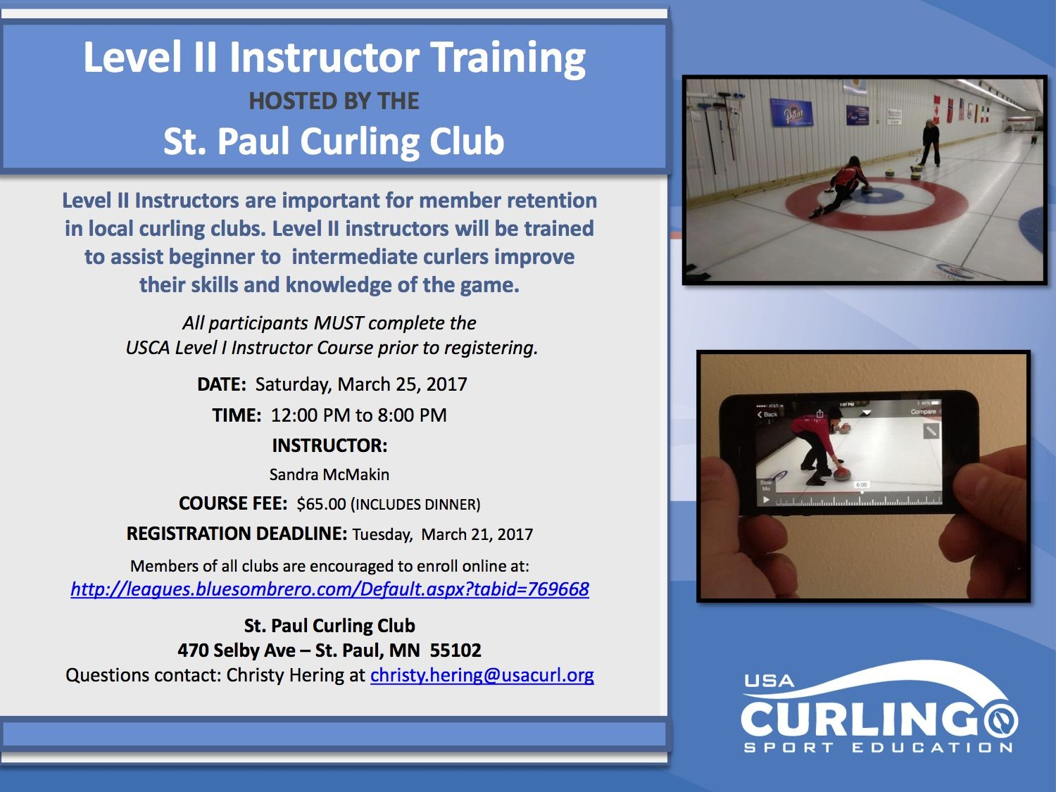 Level II Instructor Course Flyer St Paul 032517